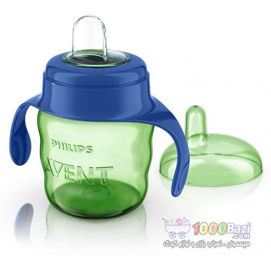 لیوان آبمیوه خوری بدون چکه 200 میلی سبز Philips Avent