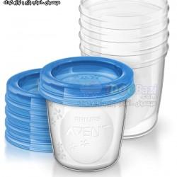 ظروف درب دار ذخیره شیر مادر و مواد غذایی Philips Avent
