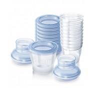 ظروف درب دار ذخیره شیر مادر و موادغذایی 10عددی Philips Avent