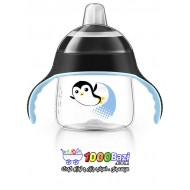 لیوان آبمیوه خوری بدون چکه 200 میلی مشکی طرح پنگوئن Philips Avent