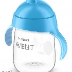 لیوان آبمیوه خوری بدون چکه آبی طرح پنگوئن Philips Avent
