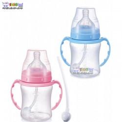 شیشه شیر دسته دار 360 درجه 180 میل Babisil