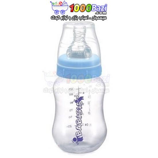 شیشه شیر طلقی 180 میل آبی Babisil