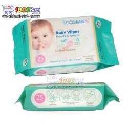 دستمال مرطوب و استریل مخصوص دست و دهان نوزاد Babisil