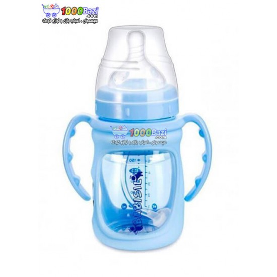 شیشه شیر پیرکس روکش دار 180 میل Babisil