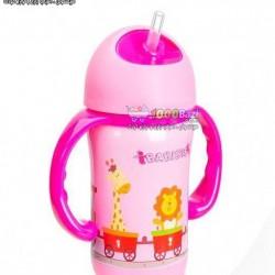 لیوان نوشیدنی مایعات کودک با قابلیت حفظ دما صورتی Babisil