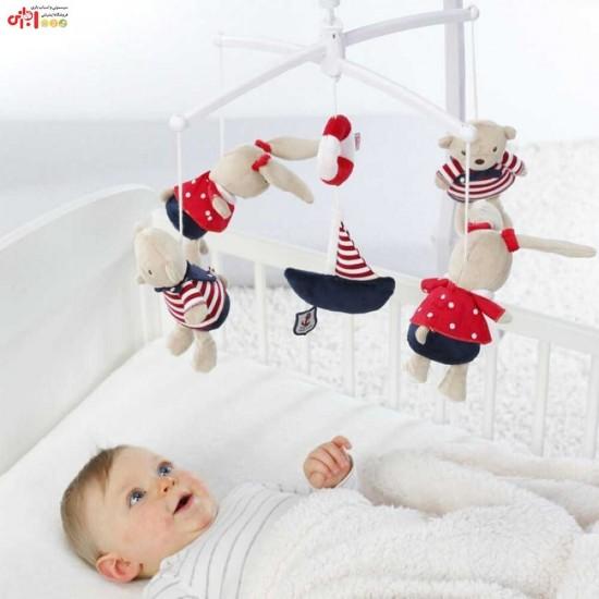 آویز تخت موزیکال طرح ملوان دریایی بیبی فن Baby Fehn