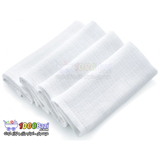 دستمال های پنبه ای 4 عددی BabyJem