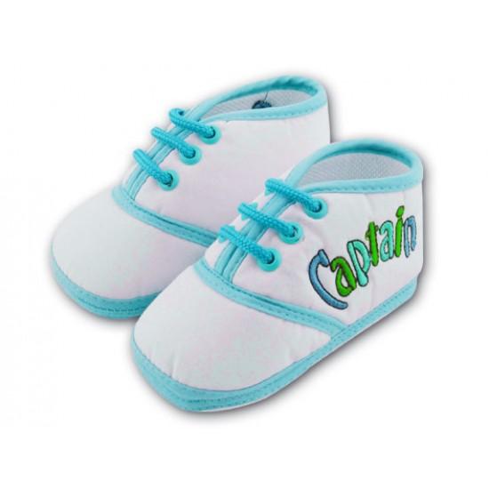 کفش پسرانه بندی آبی 9 تا 12 ماه Baby Jem ترکیه