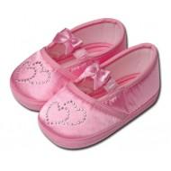 کفش کودک قلبی صورتی 0 تا 4 ماه Baby Jem ترکیه