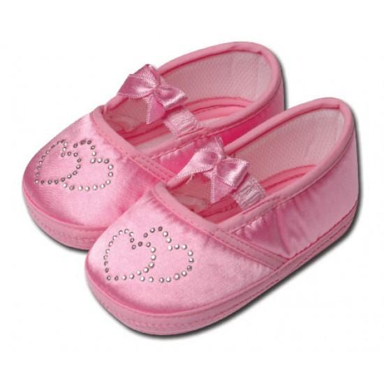 کفش کودک قلبی صورتی 9 تا 12 ماه Baby Jem ترکیه