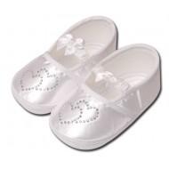 کفش کودک قلبی سفید 5 تا 8 ماه Baby Jem ترکیه