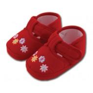 کفش کودک گلدار قرمز 9 تا 12 ماه Baby Jem ترکیه