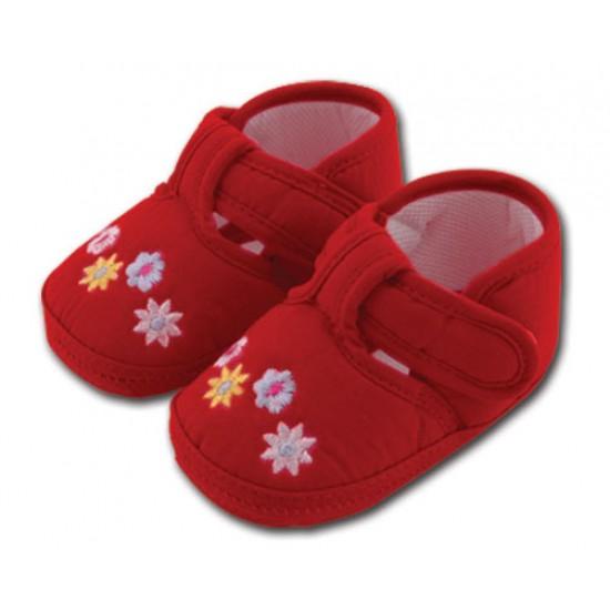 کفش کودک گلدار قرمز 5 تا 8 ماه Baby Jem ترکیه