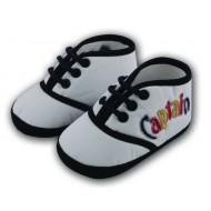 کفش پسرانه بندی سفید 5 تا 8 ماه Baby Jem ترکیه