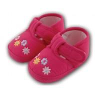 کفش کودک گلدار صورتی 5 تا 8 ماه Baby Jem ترکیه