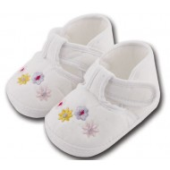 کفش کودک گلدار سفید 5 تا 8 ماه Baby Jem ترکیه