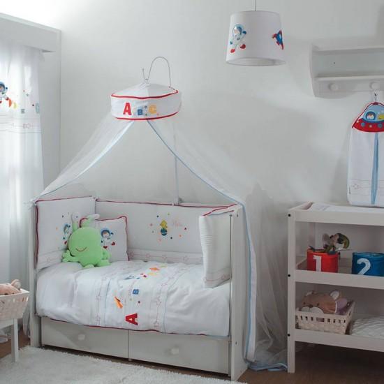 ست لحاف تشک روتختی نوزاد ترک مدل خانه پرندگان Aybi Baby