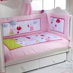 ست لحاف تشک روتختی نوزاد ترک طرح رخت لباس  Aybi Baby