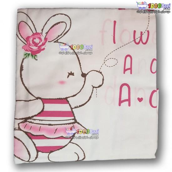 دستمال خشک کن نوزاد طرح خرگوش صورتی Bebetto