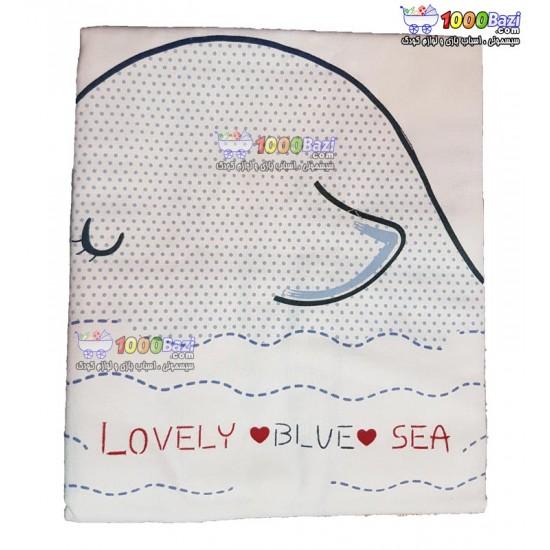 دستمال خشک کن نوزاد طرح وال آبی Bebetto