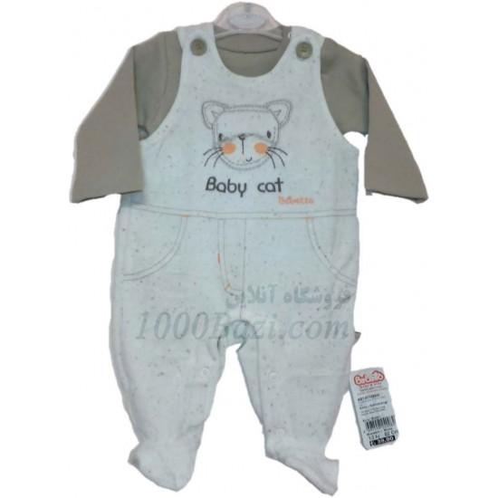 لباس بچه ست دوتیکه مخمل 6تا9 ماه Bebetto
