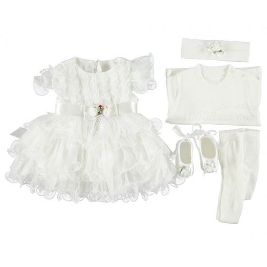 ست لباس عروس نوزاد 3تا6 ماه Bebetto