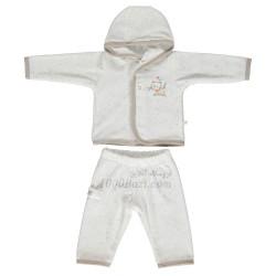 بلوز و شلوار نوزاد مخمل 6تا9 ماه Bebetto