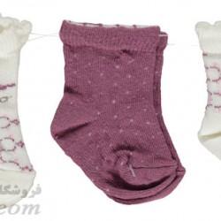 جوراب بچه نخی دخترانه 0تا3 ماه رنگ1 Bebetto