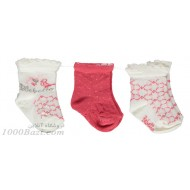 جوراب بچه نخی دخترانه 0تا3 ماه رنگ2 Bebetto