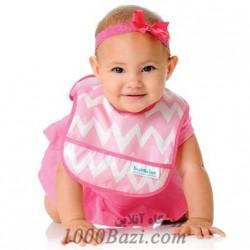 پیش بند نوزاد صورتی Bumkins