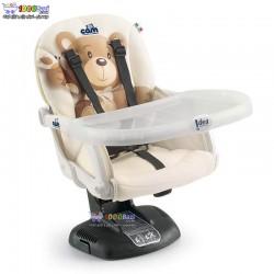 صندلی غذا خوری کودک برند کم با پایه جدید طرح خرس Cam