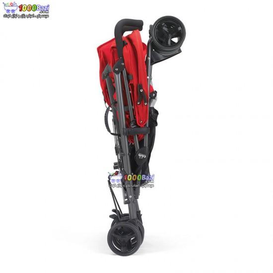 کالسکه دوقلو عصایی قرمز کم cam مدل TwinFlipC24