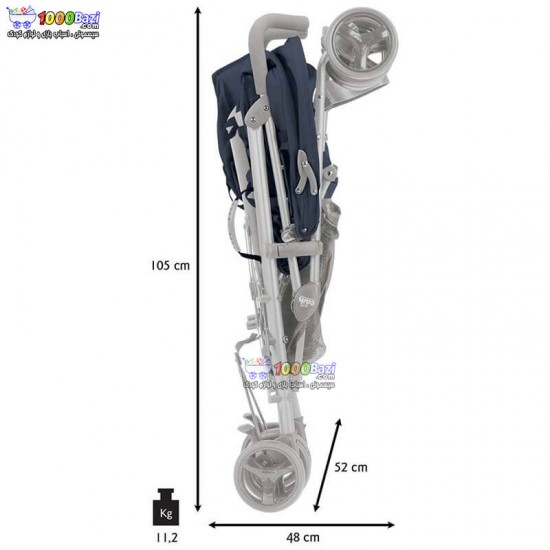 کالسکه دوقلو عصایی کم cam مدل TwinFlipC24