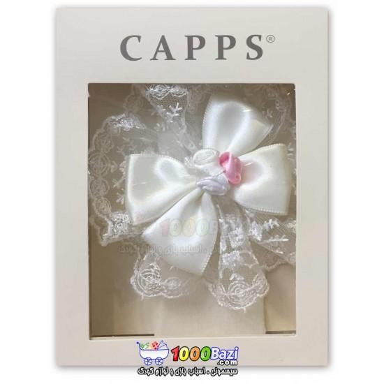 هدبند نوزادی طرح پاپیون سفید دخترانه Cassiope