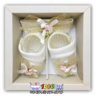ست هدبند و کفش دخترانه نوزادی Cassiope