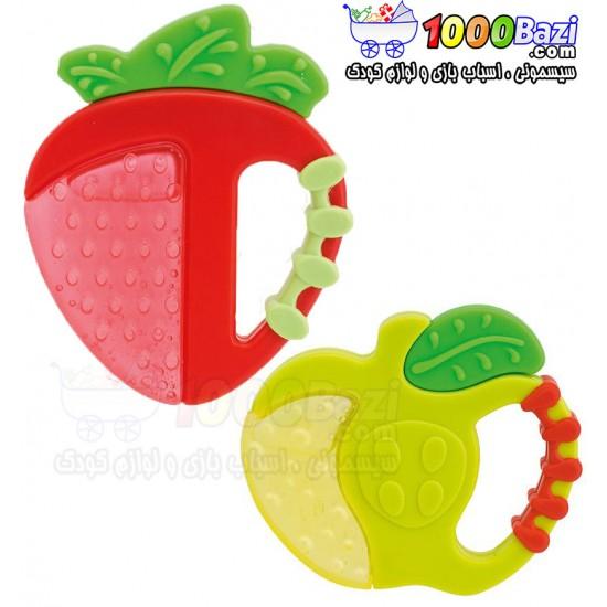 دندانگیر مایع خنک کننده طرح سیب و توت فرنگی Chicco