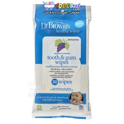 دستمال مرطوب مخصوص لثه و دندان نوزاد DrBrowns
