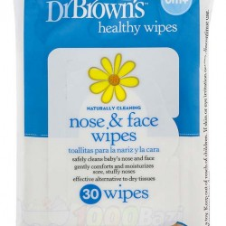 دستمال مرطوب مخصوص پاکسازی صورت و بینی نوزاد DrBrowns