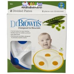 بشقاب غذاخوری دو عددی Dr Browns