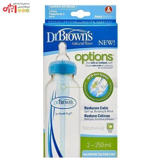 شیشه شیر طلقی ۲۵۰ میلیلیتر دکتر براون Drbrowns