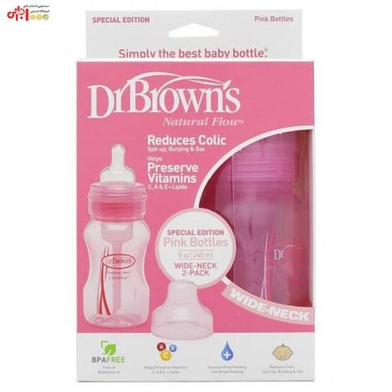 شیشه شیر طلقی ۲4۰ میلیلیتر دکتر براون Drbrowns