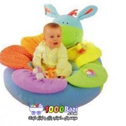 تشک بازی و استراحت کودک طرح الاغ سبز آبی ELC