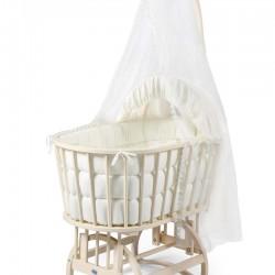 تخت گهواره نوزادی رنگ شیری با سرويس خواب ترک IsIz
