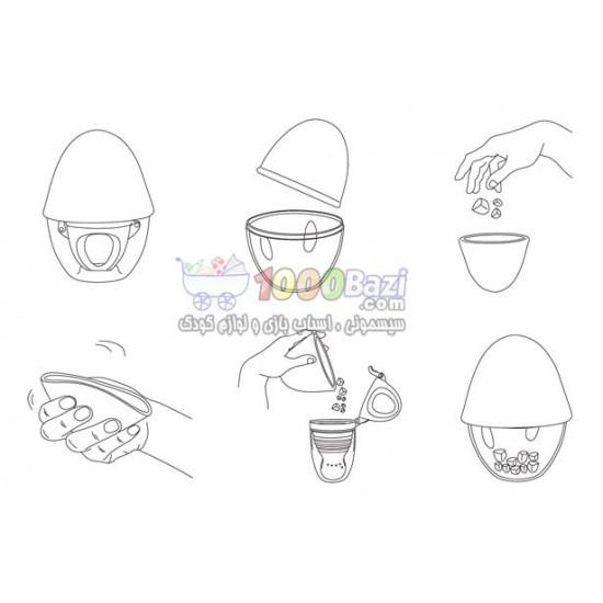 پستانک میوه خوری و غذاخوری با انباره غذای تخم مرغی Kidsme