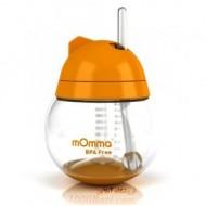لیوان نی دار نوشیدنی نارنجی کودک mOmma انگلستان