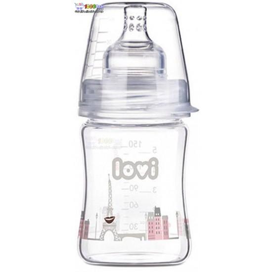 شیشه شیر پیرکس 150 میل 0 ماه به بالا Lovi