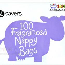 کیسه حمل پوشک معطر 100 عددی M Savers