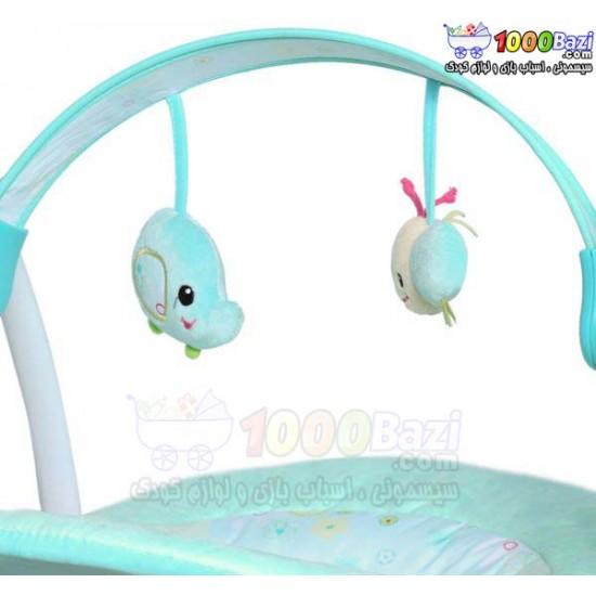 تاب و گهواره موزیکال کودک آبی Mastela