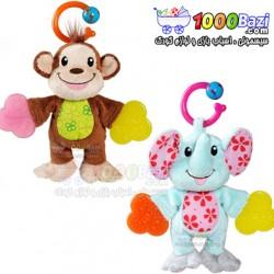 دندان گیر عروسکی طرح فیل و میمون Munchkin